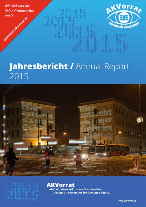 Cover Jahresbericht 2015